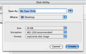 The Disk Utility interface for creating a new disk.