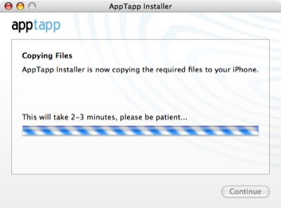 AppTapp making no progress.
