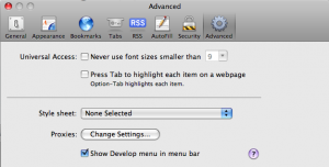 Activate the Developer menu in Safari 4's preferences.